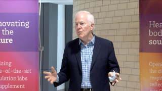 Cornyn visit elicits gratitude from CARES Act recipients