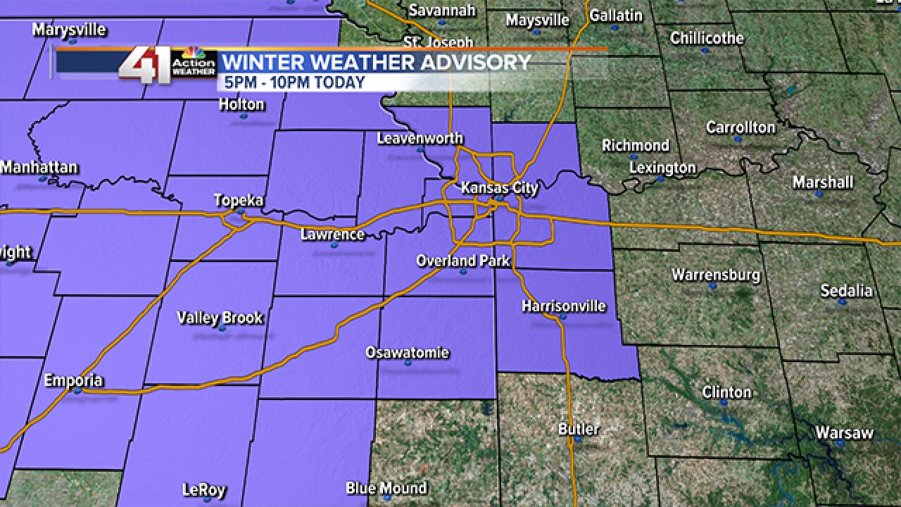 Winter weather advisory issued for Kansas City metro area
