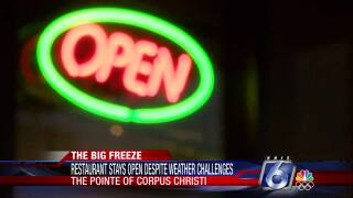 The Pointe stays open despite frigid conditions