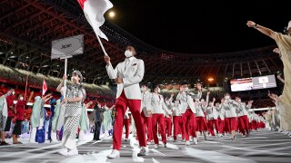 NBA star Rui Hachimura leads Japan in Parade of Nations at Opening Ceremony