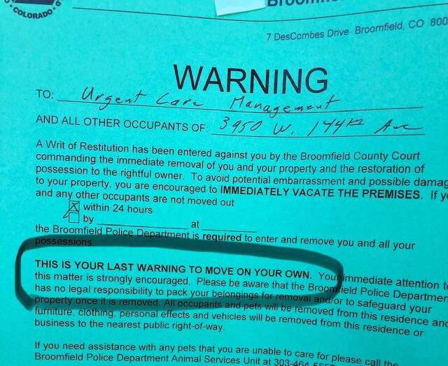 Warning Note