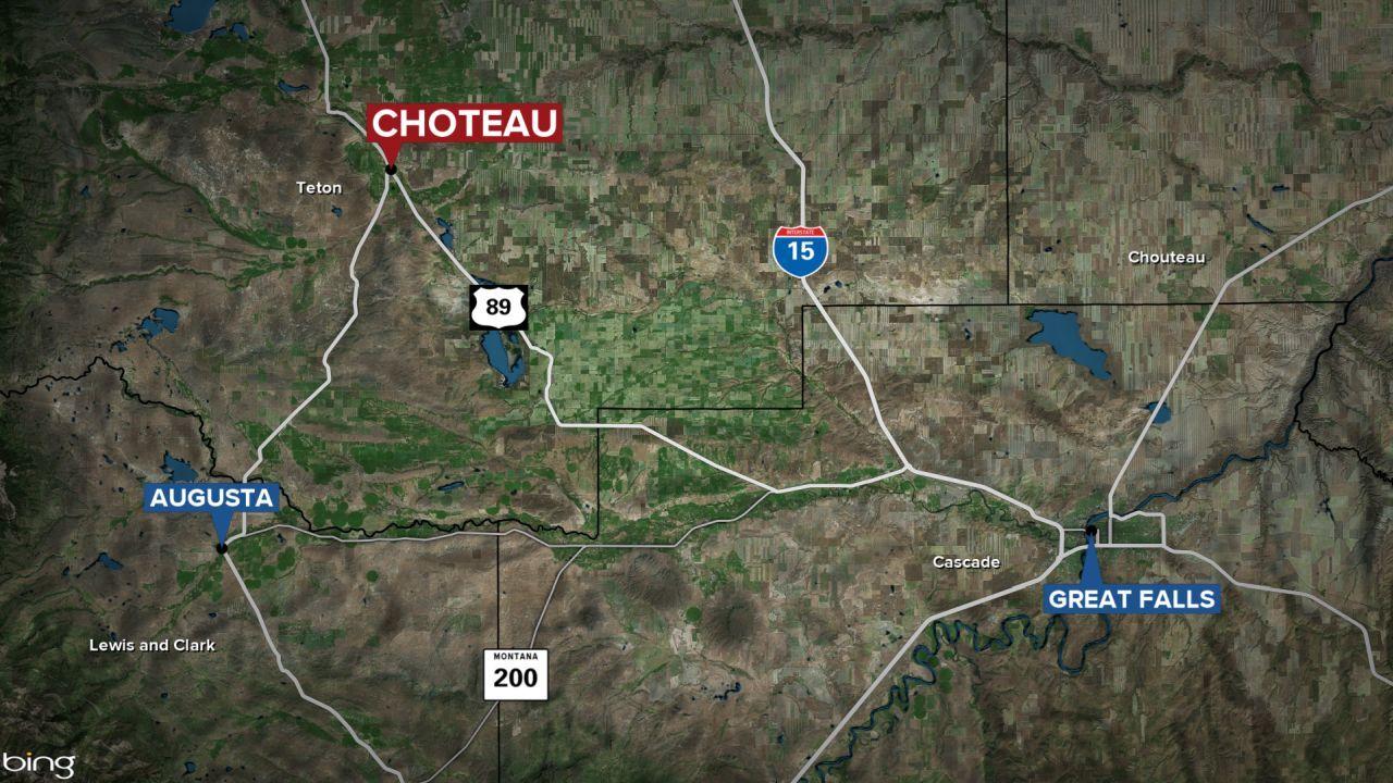 Choteau Montana map