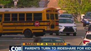 Parents turn to Rideshare services for kidsc