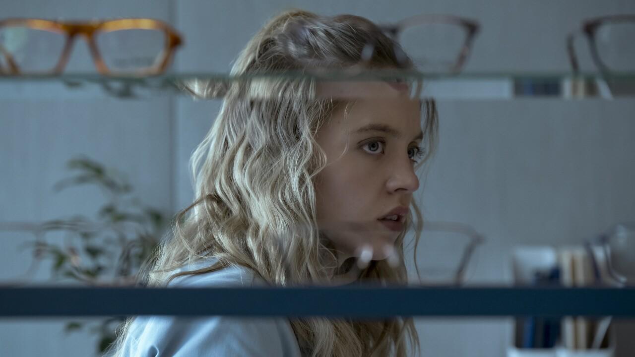 "Sydney Sweeney stars in ""The Voyeurs."" Photo courtesy Prime Video."