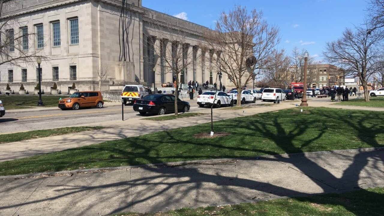 Multiple people stabbed outside Indy library