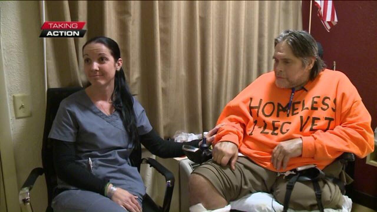 Wounded veteran takes action to help homelessveteran