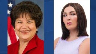 U.S. Rep. Lois Frankel, D-Florida, and Republican challenger Laura Loomer