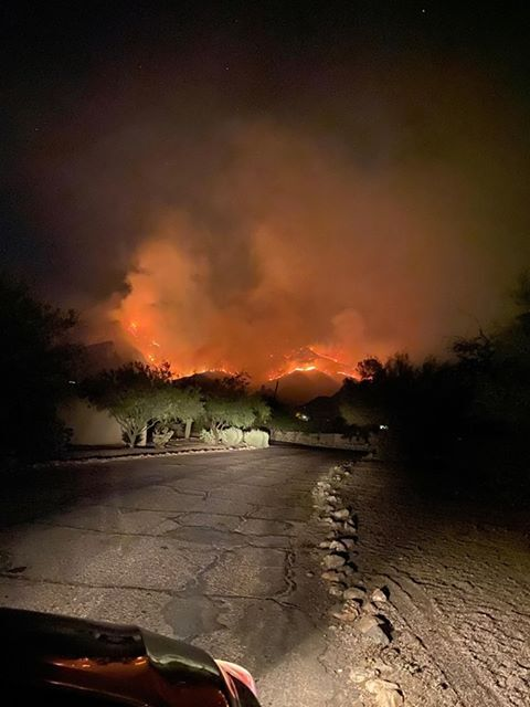 Bighorn Fire in the Catalina Mountains