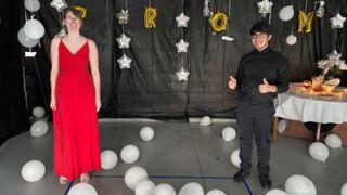 Prom in a garage