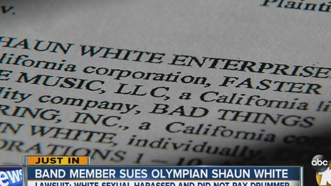Drummer claims Shaun White sexually harassed her