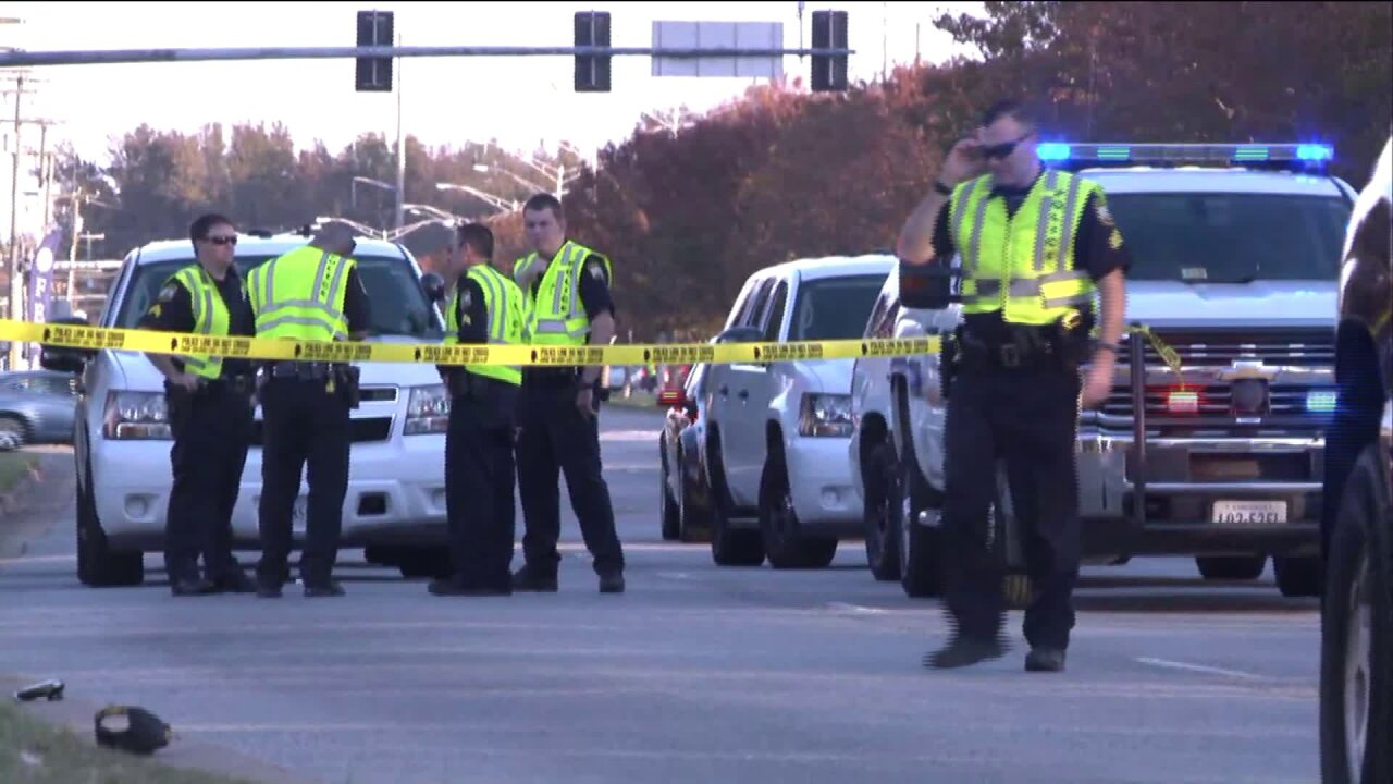 Pedestrian killed in Virginia Beach after being struck by vehicle