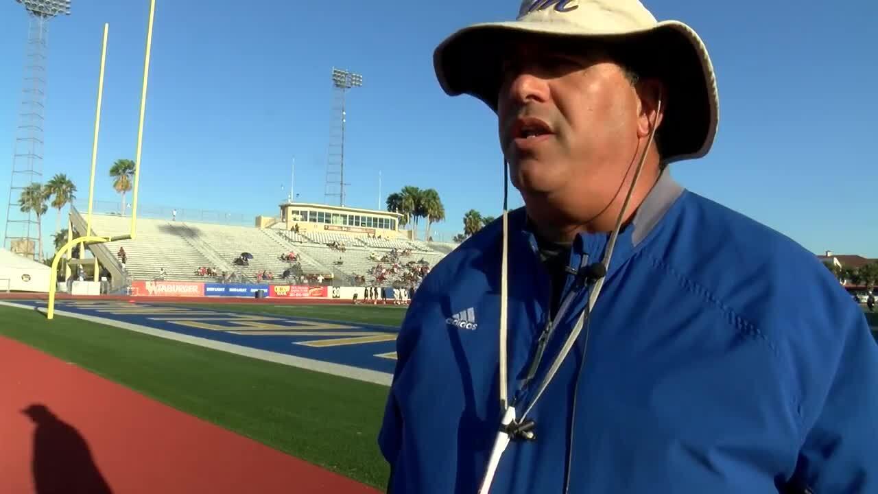 Moody coach Michael Cantu