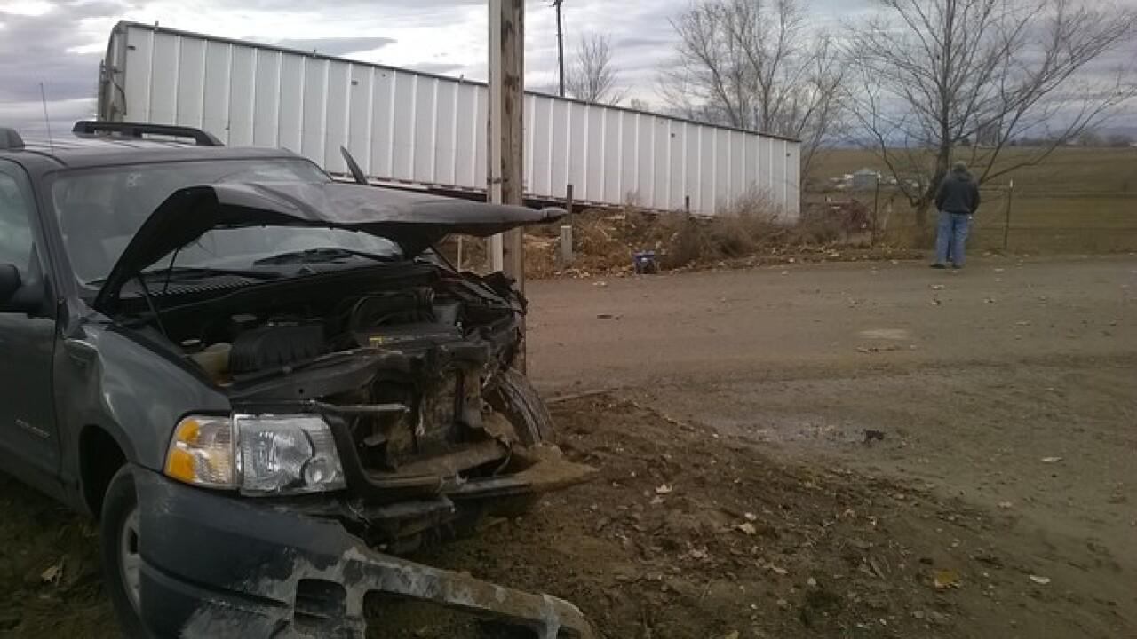 Driver injured after semi-truck runs stop sign