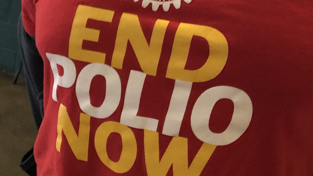 Local rotary clubs take action to help eradicate polio