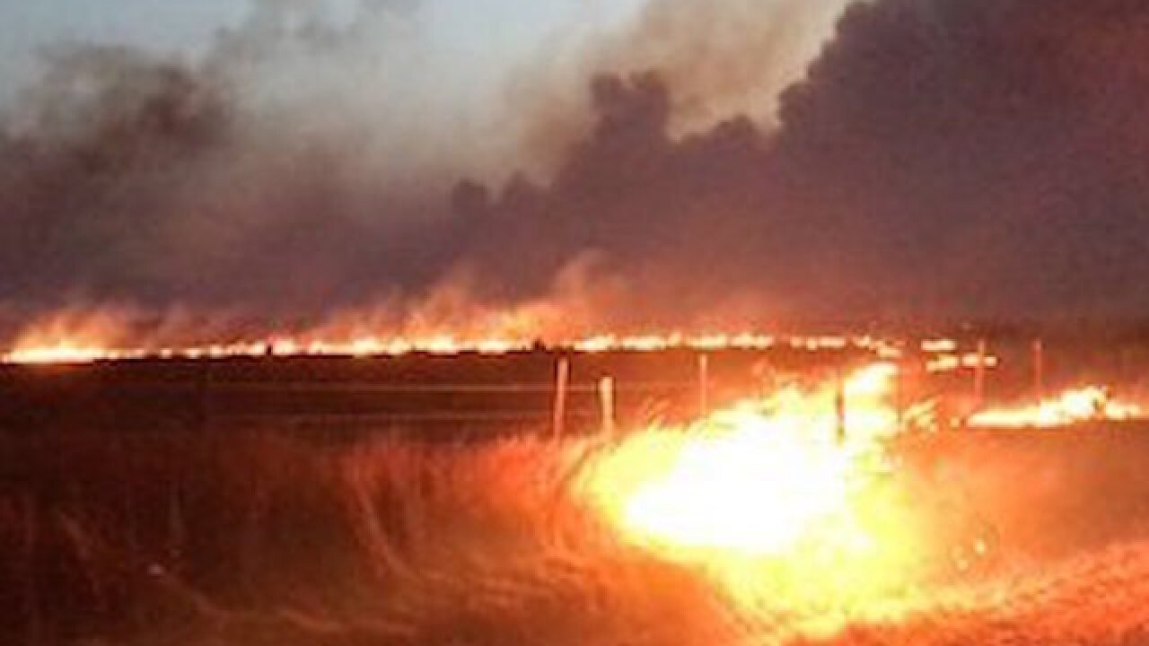 Wildfires raging in Oklahoma; 1 dead