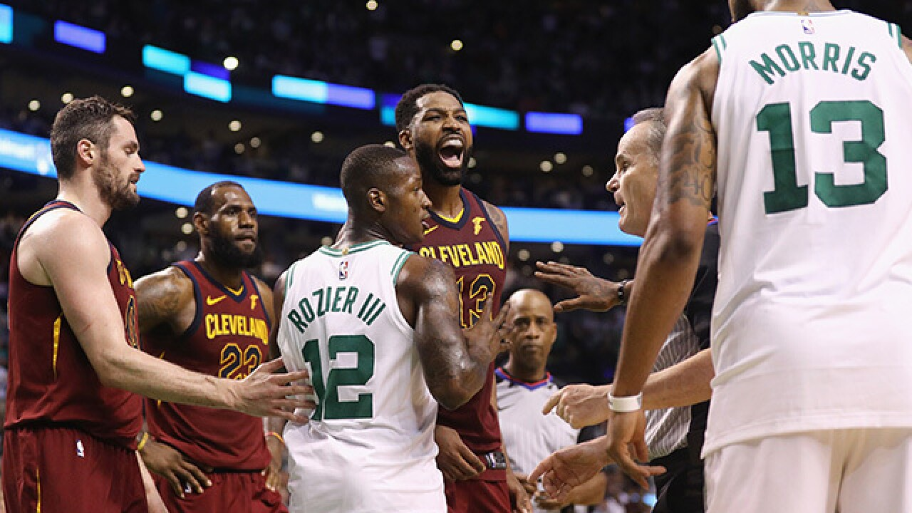 Celtics' Marcus Morris yelling at Tristan Thompson has become the most relevant meme yet