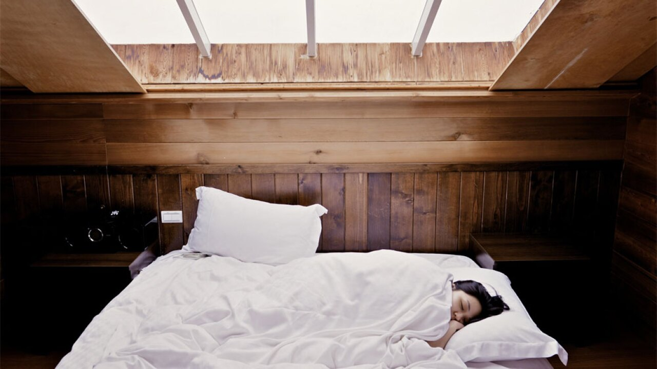 bedroom sleeping woman napping