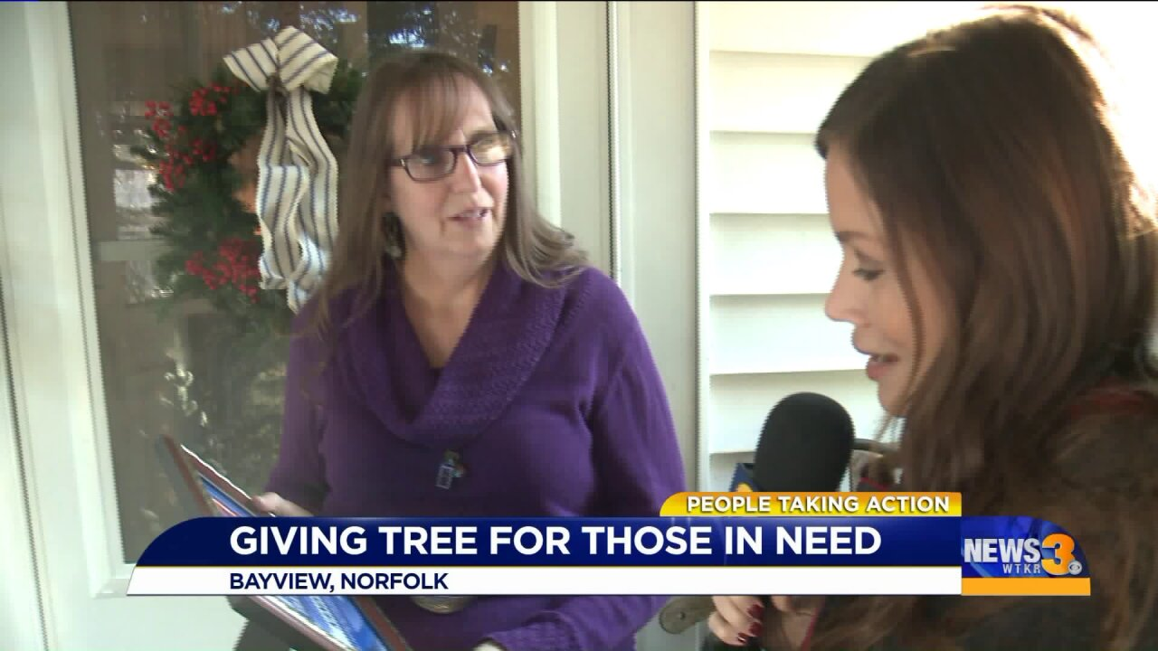 Norfolk woman gives to those in need with her 'givingtree'
