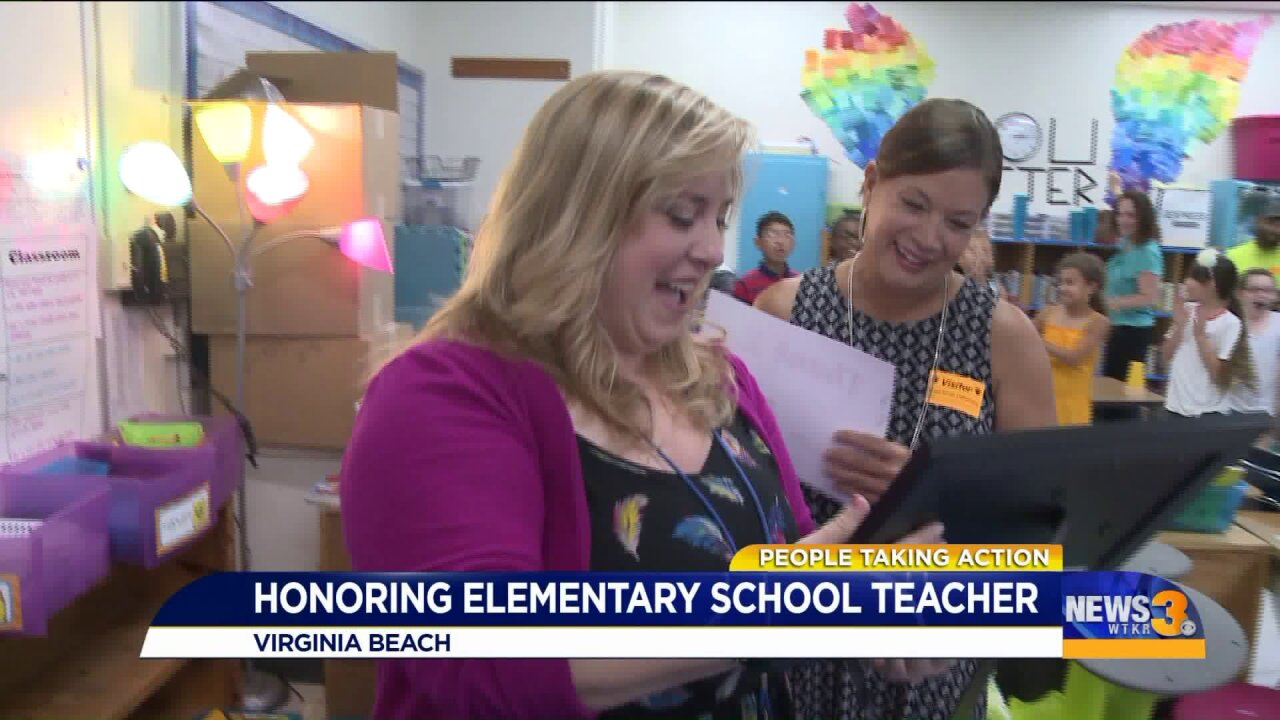 Virginia Beach teacher finds way to help community heal after tragedy