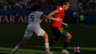 US battles to victory over Spain to reach the quarterfinals of the Women's WorldCup