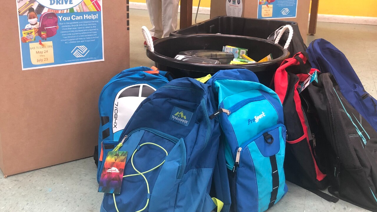 Boys and Girls Clubs of Palm Beach County collects backpacks on May 24, 2021.jpg