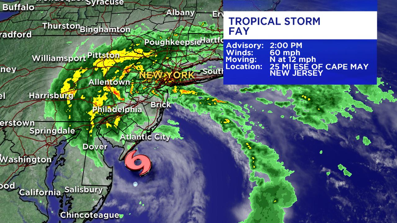 Tropical Storm Fay radar