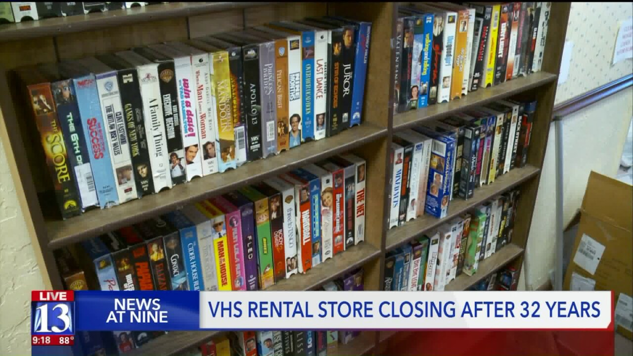 After 32 years, one of Utah's last-standing video rental stores closing inSpringville