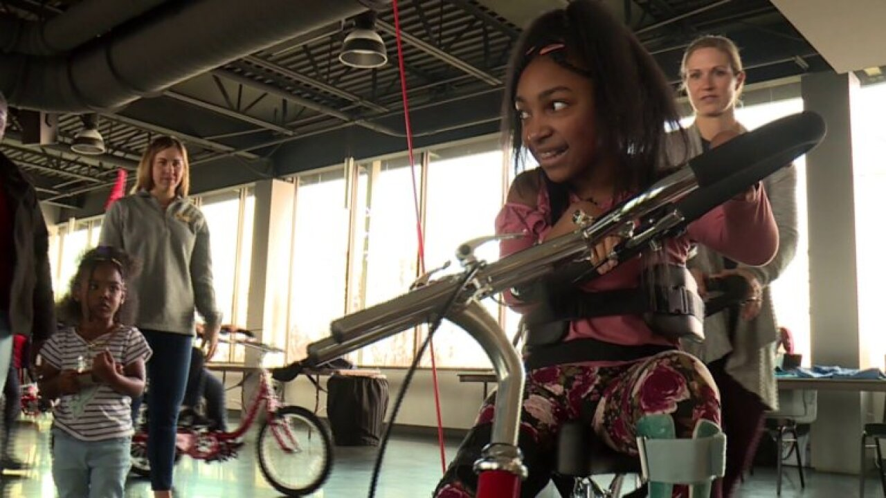 Kids gifted adaptive bikes in Richmond