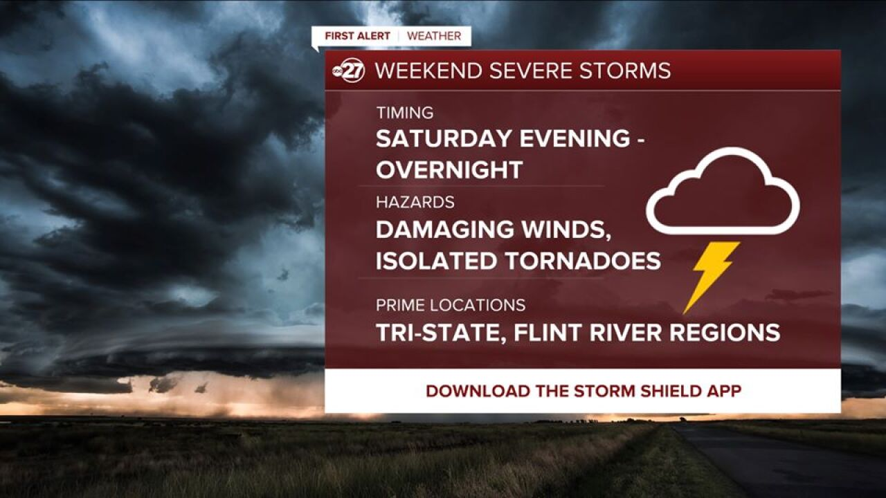 Severe weather possible Saturday night in Big Bend, South Georgia