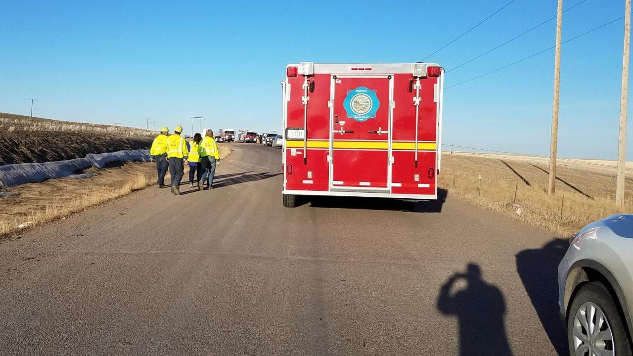 Emergency crews have responded to the High Plains Landfill north of Great Falls due to a possible hazardous materials incident.
