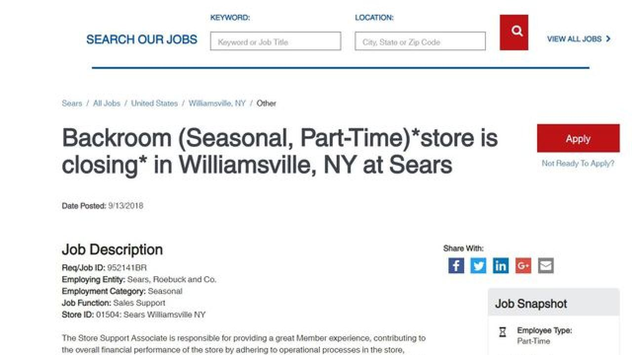 Eastern Hills Mall Sears to close their doors for good