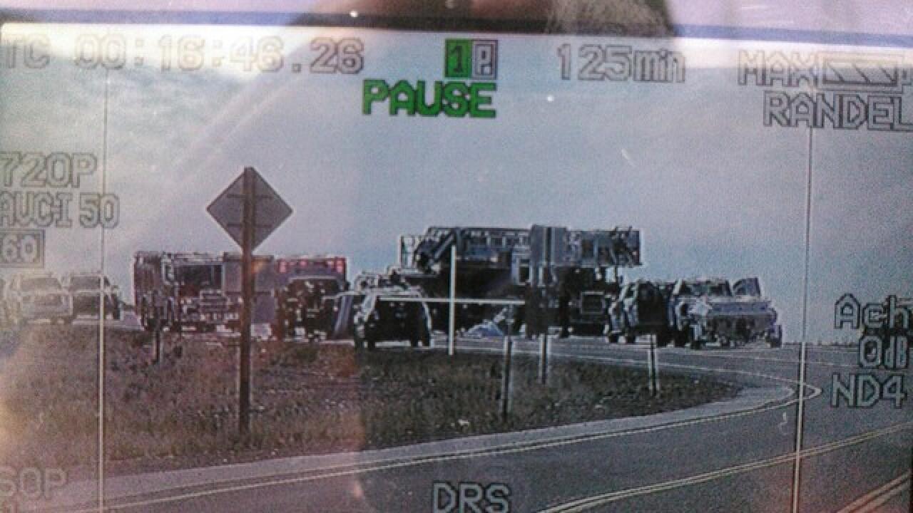 Officials investigating motorcycle crash