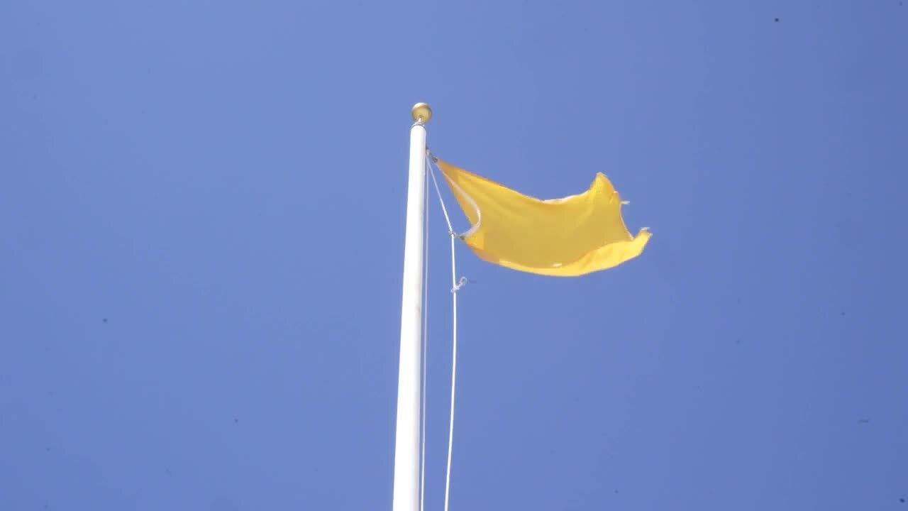 Yellow warning flag