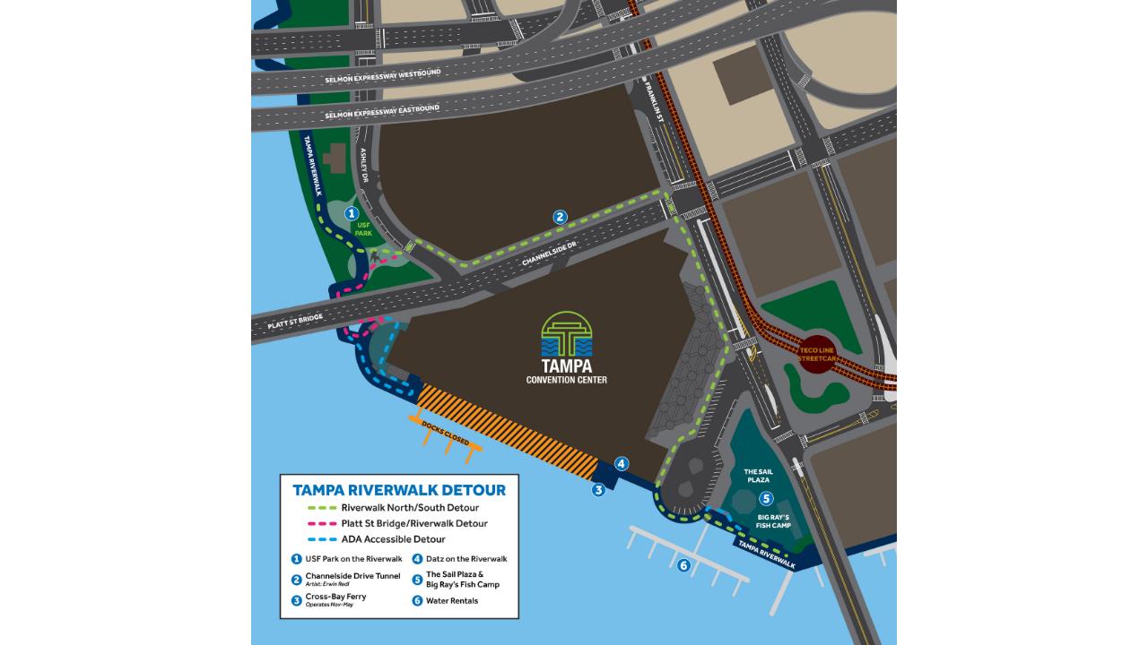 TCC Riverwalk Detour Map.png