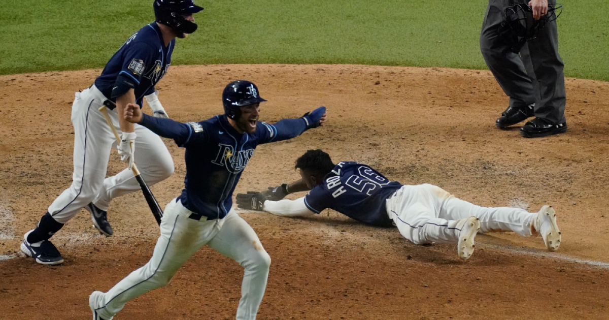 Rays stun Dodgers with walk off win in Game 4 to even World Series