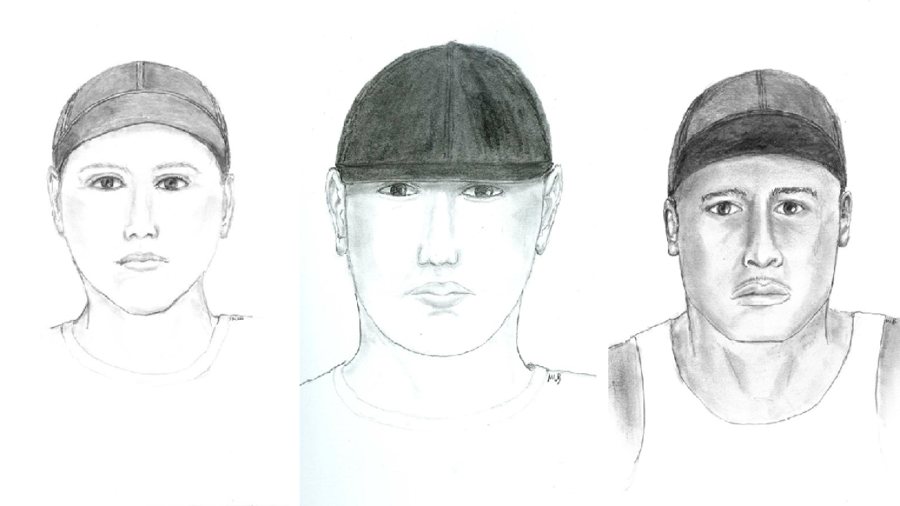 Sketches show 3 men wanted in West End robbery