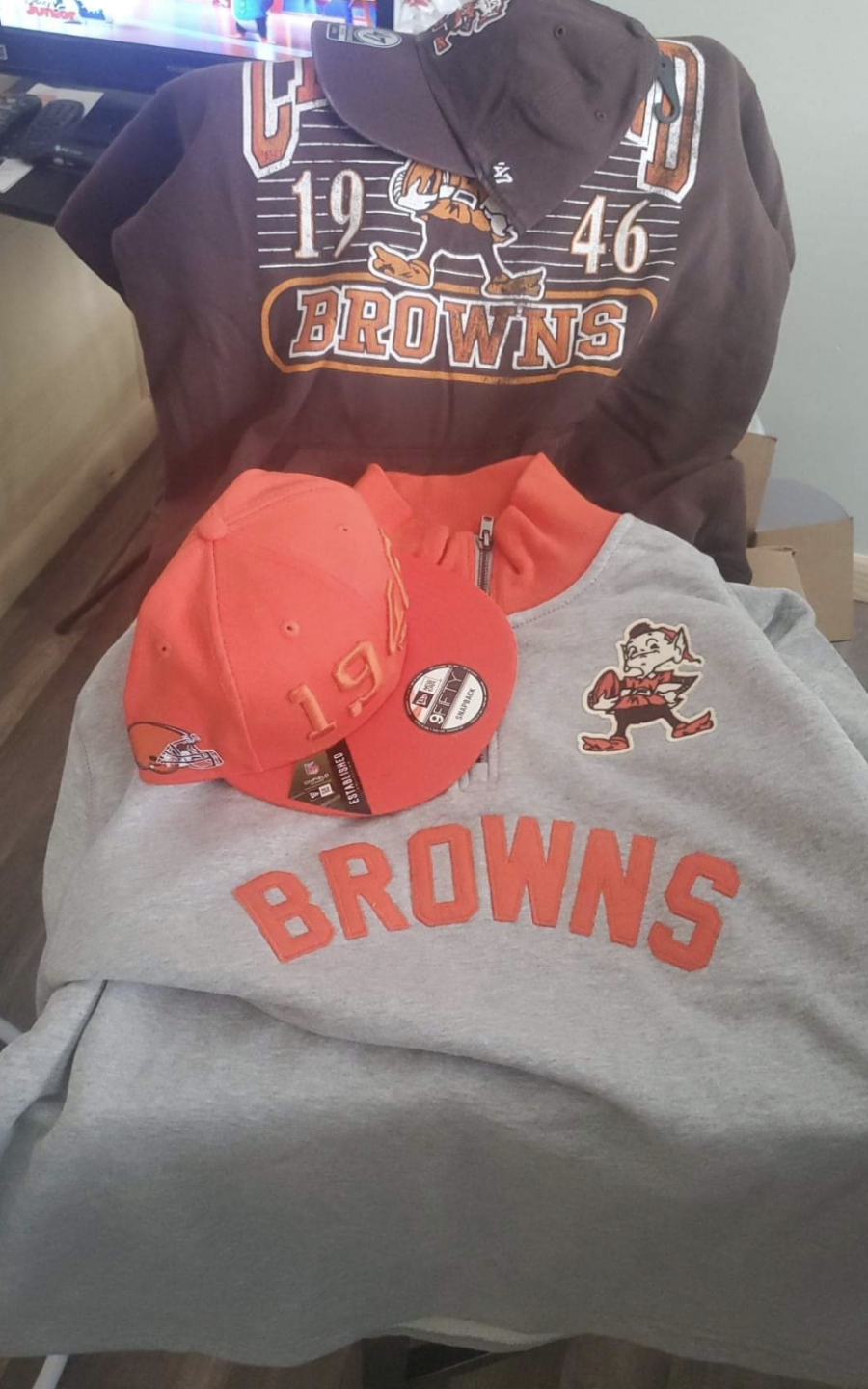 Browns gear from Stump