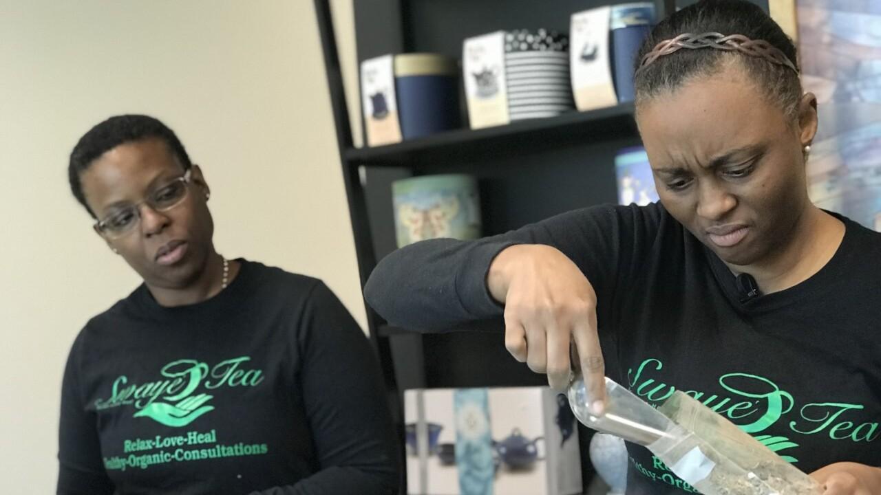 Swaye Tea owners