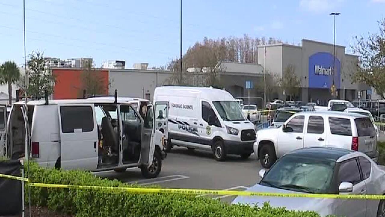Dead body found in parked van at Walmart