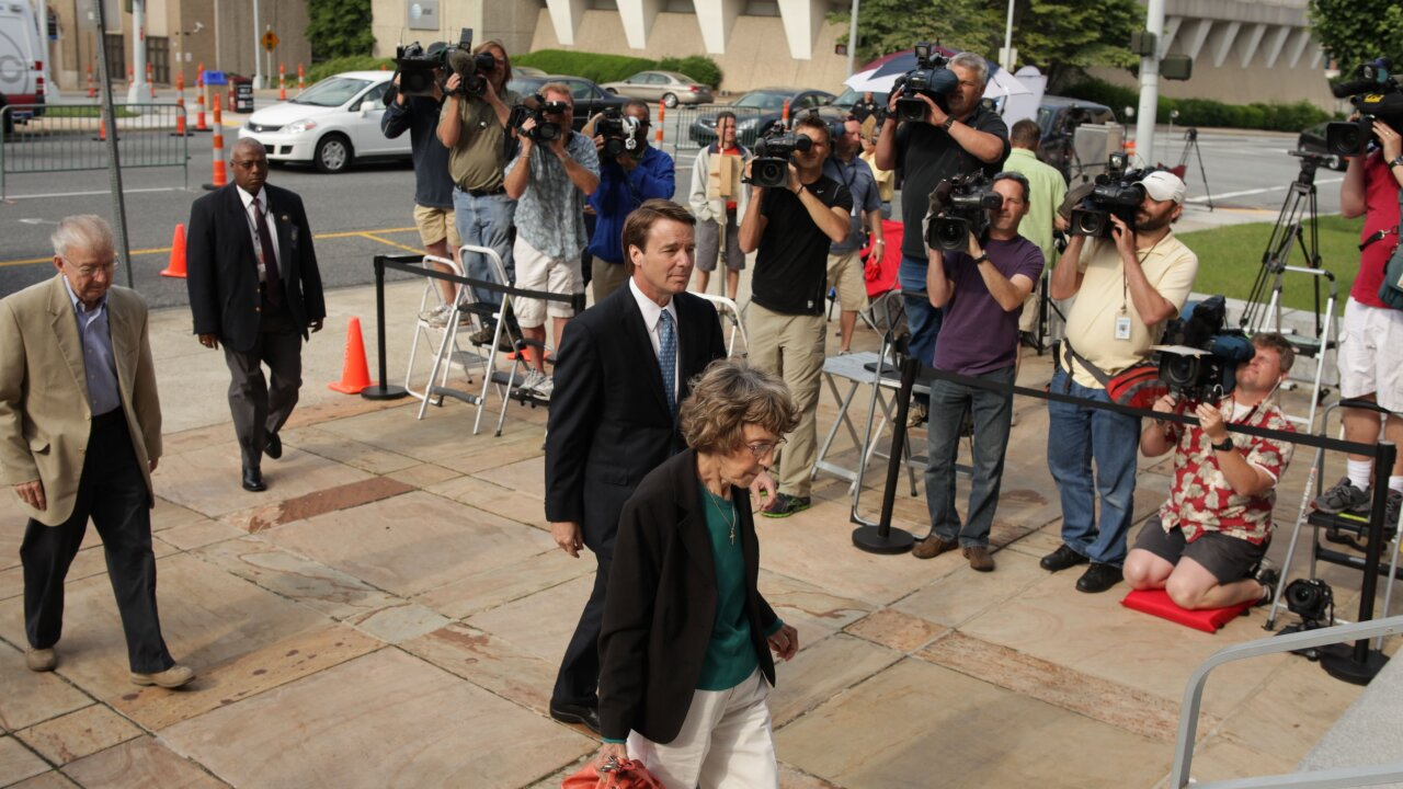 Jury ends first day of deliberations without verdict in John Edwards trial