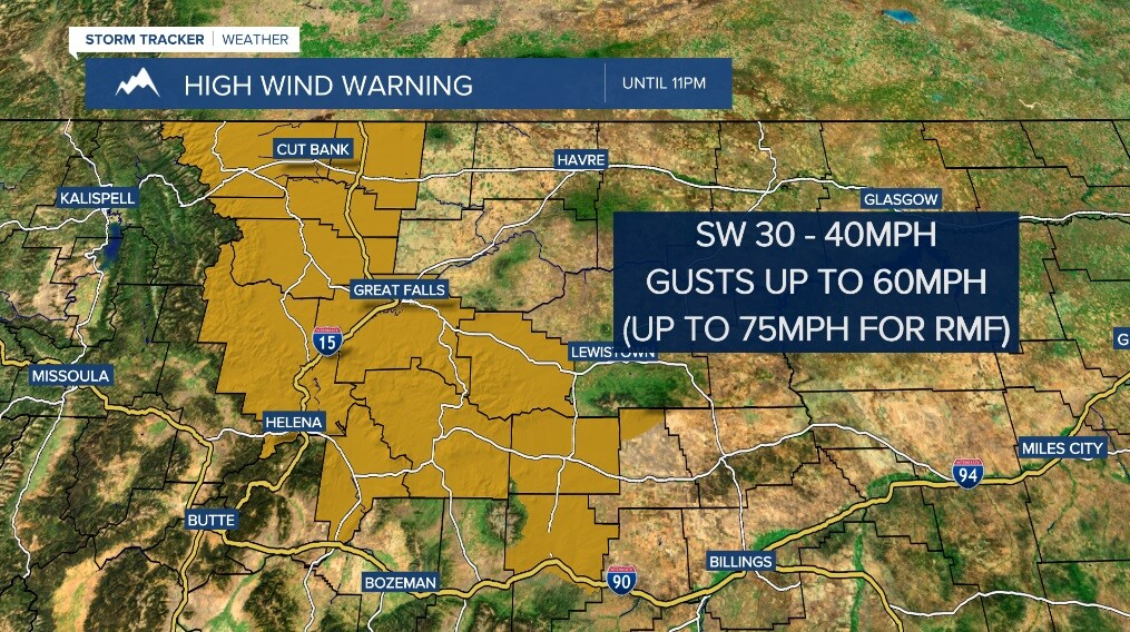 Windy with tricky travel along the Divide throughout the night