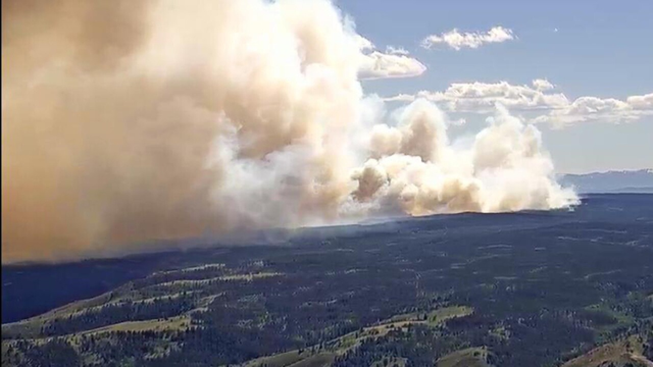 Badger Creek Fire burning just north of Colorado-Wyoming border doubles in size