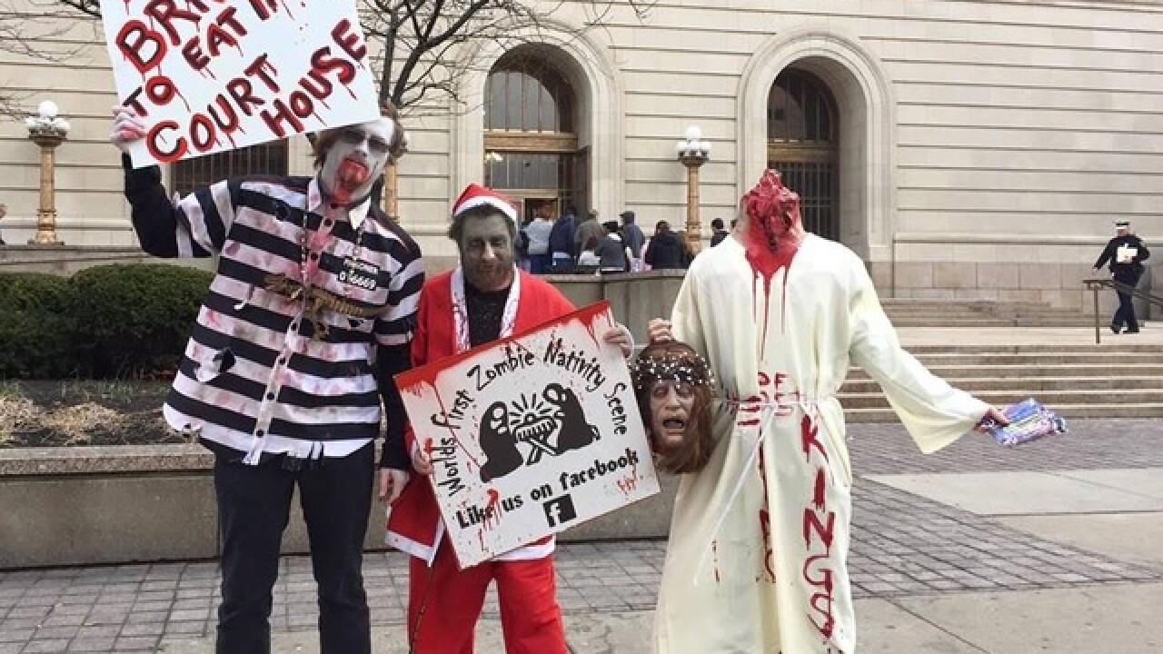 Zombie nativity creator asks judge to kill case