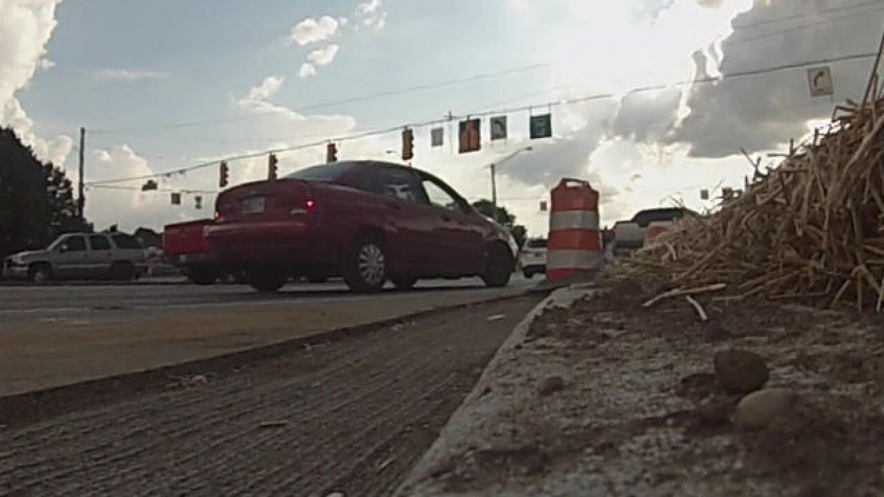 Turn lane mysteriously disappears with no notice