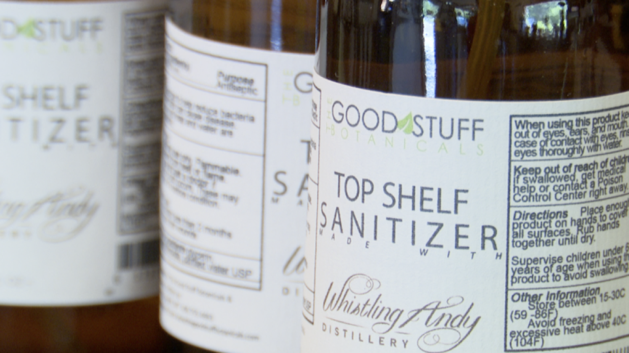 Bigfork distillery teams up with organic skin company to make hand sanitizer