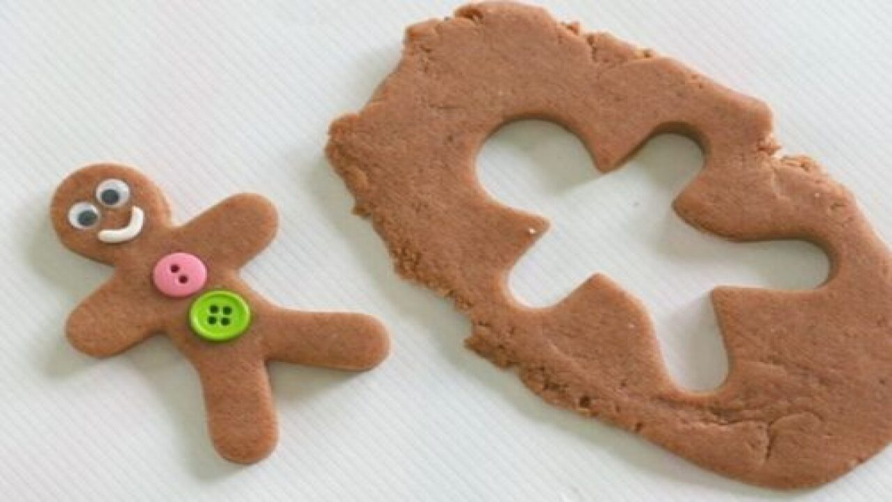 Homemade Gingerbread Playdough Is The Perfect, Easy Holiday Craft For Kids