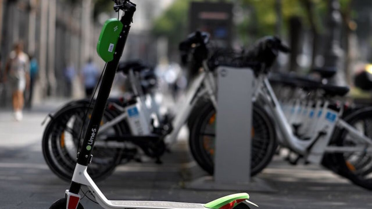 File image of Lime scooters