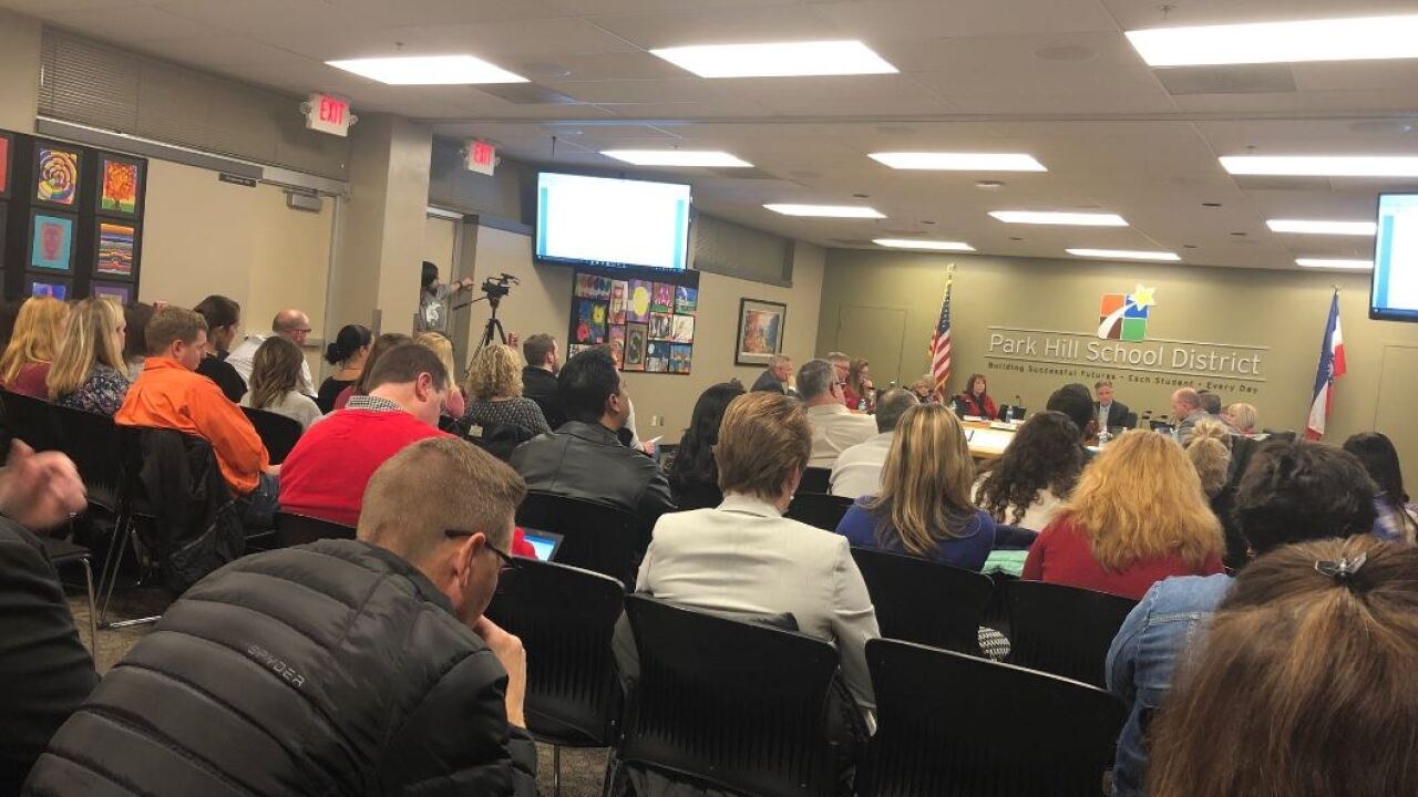 The Park Hill Board of Education votes to approve a recommendation for redistricting our school attendance area boundaries