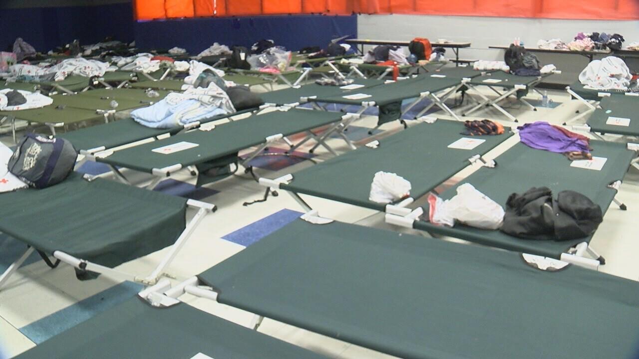 2019-04-19 Rec center shelter-cots.jpg
