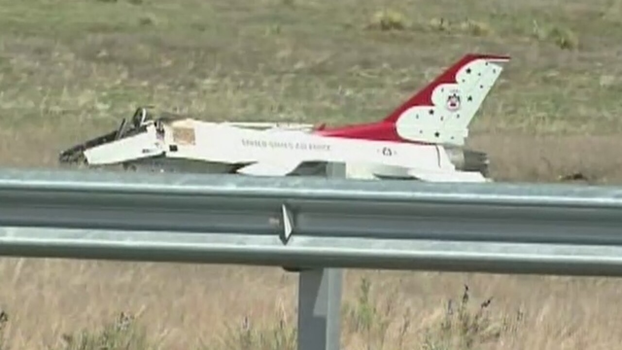 Thunderbirds' jet went down, pilot ejected
